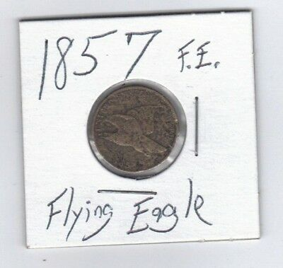 1857 1C Flying Eagle Cent ,one cent penny, Pre-Civil War Era coinage,old America