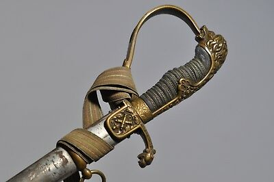 Imperial German Lion's Head  Sword With Portapee / Knot