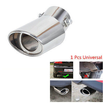 """Cars EXHAUST Tail Muffler Tip Pipe 1PC Fit diameter 1.5"""" To 2.2 """" Chrome Round"""
