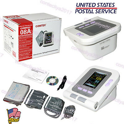 CONTEC08A Digital Blood Pressure Monitor Adult/Pediatric Upper Arm 4 Cuffs+PC SW