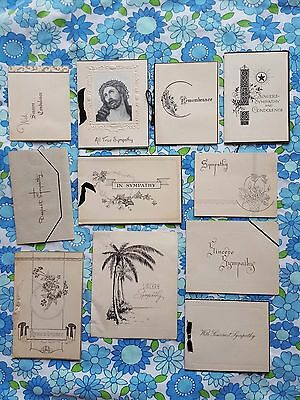42x vintage Sympathy bereavement cards funeral death greeting 1940s 1950s 1960s