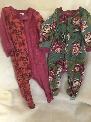 a0ad40e27 BABY GIRL SLEEPERS Floral 3-6 Months Naartjíe Joules Original EUC ...