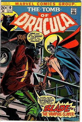 TOMB OF DRACULA #10 1st BLADE APPEARANCE MID GRADE!