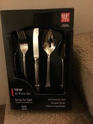 Zwilling J A Henckels Provence 45 Piece 18 10 Stainless Steel Flatware Set New