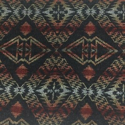 Pendleton Woolen Mills Native Blanket Fabric Remnant Black Red Green F3A
