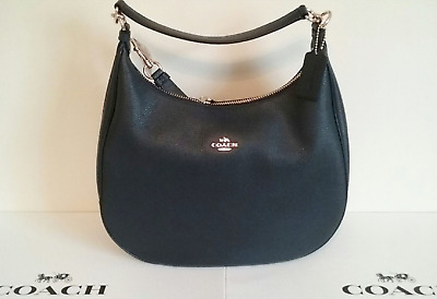 b54be502d2 New COACH F38259 Harley Pebble Leather Hobo Shoulder Handbag - Midnight Blue