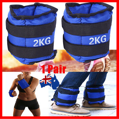 Adjustable Ankle Wrist Fitness Weight Gym Straps Exercise 4KG