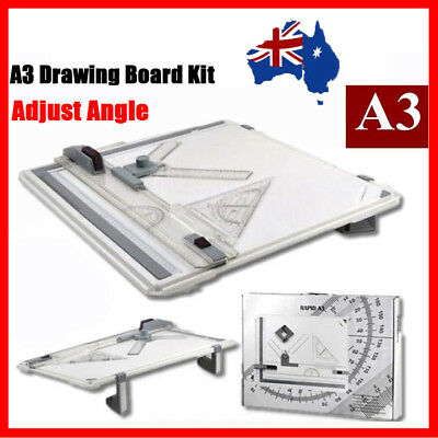 A3 Drawing Board Table with Parallel Motion and Adjustable Angle Drafting AU