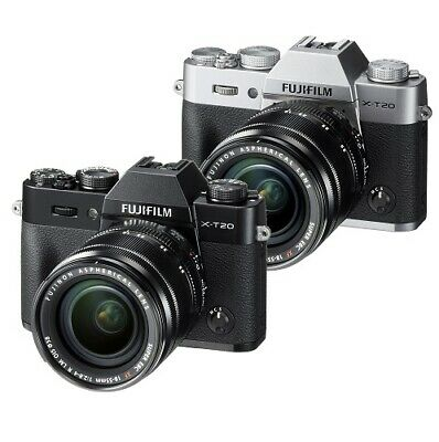 New Fujifilm X-T20 Mirrorless Digital Camera with 18-55mm Lens - BLACK or SILVER