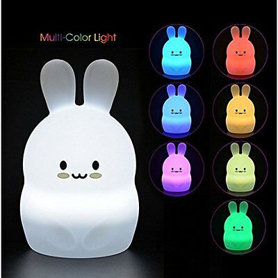 LumiPets Baby Night Light Nursery Lamp - Cute Portable LED Soft Touch Safe Kids
