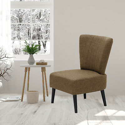 Remarkable Furinno Euro Modern Armless Fabric Accent Chair Brown Alphanode Cool Chair Designs And Ideas Alphanodeonline