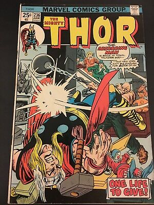 The Mighty Thor # 236  Marvel Comics Bronze Age FN  Cents Issue