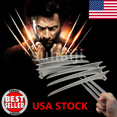 2Pcs X-Men Wolverine Logan Blade Claw Cosplay Costume  Props Paws Hard Plastic