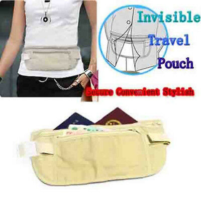 Travel Waist Hidden Pouch Security Passport Money Waist Belt Sport Pack Bag