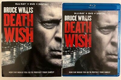 Death Wish 2018 Blu Ray Dvd 2 Disc Set + Slipcover Sleeve Free World Wide Shipin