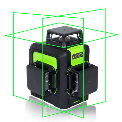 Laser Level 12 Lines Green 3D 360 degree Rotary Vertical Horizontal Selfleveling