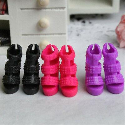 2pairs Doll Shoes High Heel Sandals for Barbie Dolls Clothes Accessories AU-