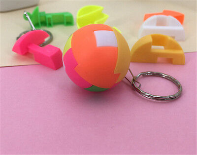 2pcs Intelligence Colorful Puzzle Assembly Ball Kids Game Funny Toys AU-