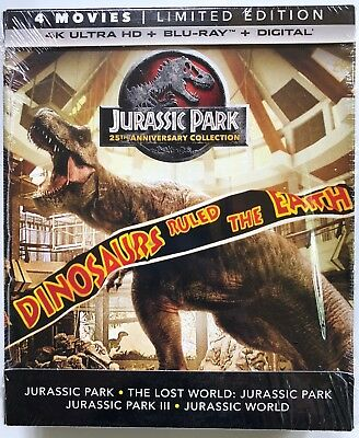 Jurassic Park 25Th Anniversary Collection 4K Ultra Hd Blu Ray Digibook 8 Discset