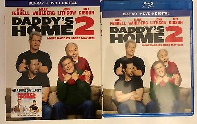 Daddy's Home 2 Blu Ray Dvd 2 Disc Set + Slipcover Sleeve Free World Wide Shippin