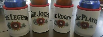 Jim Beam Can/Bottle/Stubbie Holders Cooler 4 pack limited edition