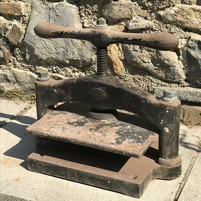 Waterlow and Sons London Vintage Cast Iron Book Press Vintage Industrial