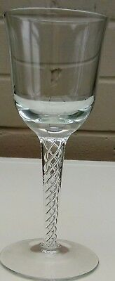 Twisted Stem Wine Glass - Hand Blown From Single Piece of Glass