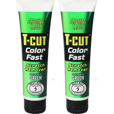 2x T-Cut Color Fast Green Scratch Remover Abrasive Compound Car Polish 150g