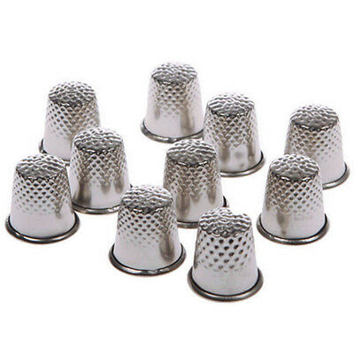 10× Vintage Thimble Sewing Grip Pin Needle Finger Metal Shield Protector New-AU