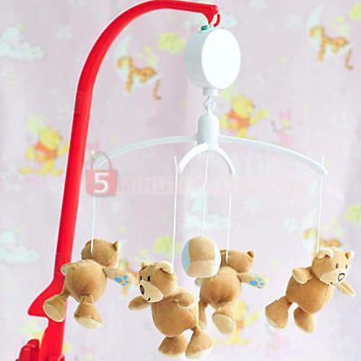 12- Melodie Song Toy Baby Mobile Crib Cot Bell Electric Autorotation Music Box