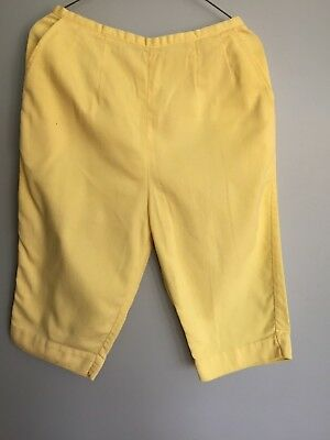 Vintage 60s Jantzen Capri Pants Pedal Pushers YELLOW Cotton sz S