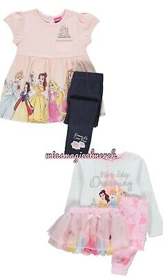 Brand New Girl's Disney Princess Outfit Pyjamas 2 To Choose From