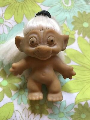 TROLL Made In Hong Kong Doll White Hair Vintage Toy