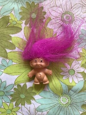 Mini TROLL Doll Pink Hair Vintage Toy