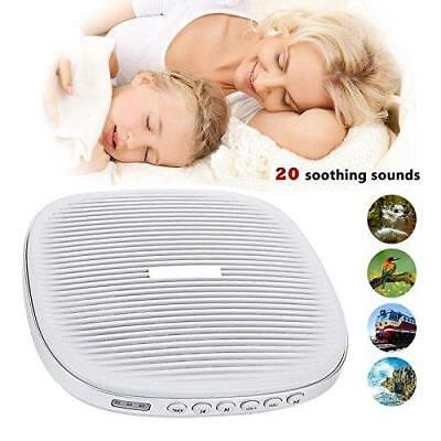 White Noise Machine, Portable Sound Sleep Therapy Machine with 20 Soothing...