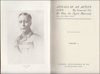 Macready ANNALS OF AN ACTIVE LIFE - Boer War WWI IRELAND Sinn Fein IRA de Valera
