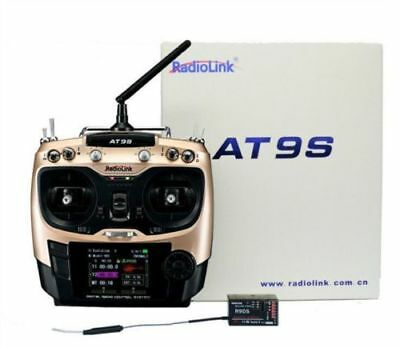 RADIOLINK 10CH Digial Transmitter AT9S 2.4GHz M2 + R9DS receiver - GALAXY RC UK