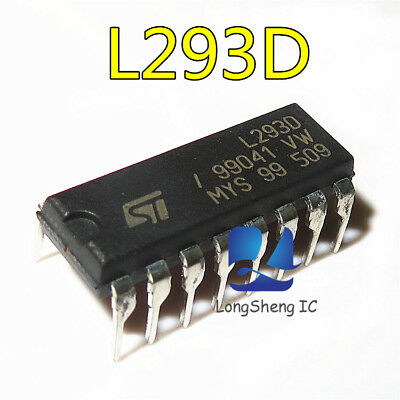 10Pcs Ic L293D St Drvr P/p 4Ch W/diodes 16-Dip New Good Quality