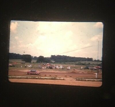 Vintage 35mm Red Border Kodachrome Photo Slide Lot of 10 50's Stock car Jet boat