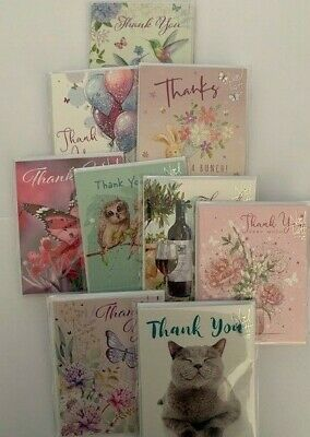 Noel Tatt Thank You Card 4 x Card Pack of Various Designs