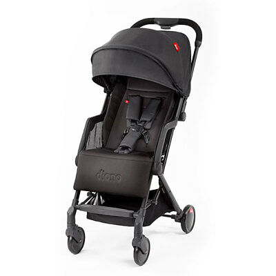 """Diono Traverze Compact Travel Stroller Black """"Silver Collection"""" New! Free Ship!"""
