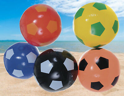 "15"" Inflatable Blow Up Kids Beach Ball Football Holiday Swimming Party Games"