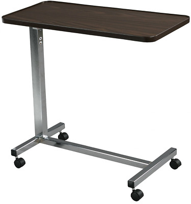 Overbed Table Desk Non Tilt Top Medical Supplies Mobility Bedroom Aid Chrome