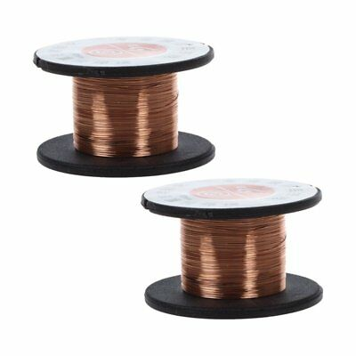 2Pcs 15m 0.1MM Copper Soldering Solder Enamelled Reel Wire Roll F4X9