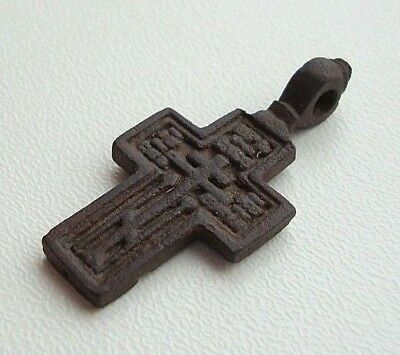 Ancient Old Believer Bronze Cross Male M
