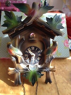 Vintage Old Foreign Cuckoo Clock For Parts