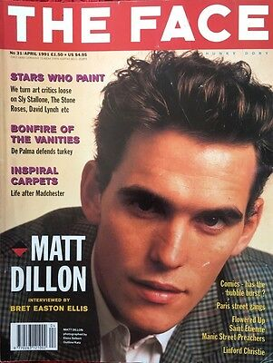 Matt Dillon! Rare Face Magazine April 1991