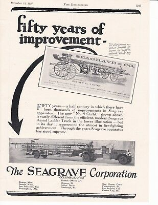 Seagrave  50 Yrs. Of Improvements    1927  Ad             7316