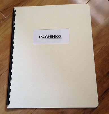 Pachinko Machine Directions / Instructions / Spiral Bound Manual