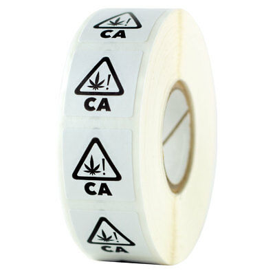 California Universal THC Symbol Compliant Strain Labels - 1000 Stickers - 1 Roll